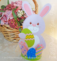 easter rabbits decorations party planning center free printable easter bunny decorations