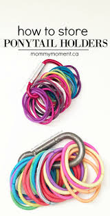 ponytail holders how to organize ponytail holders moment