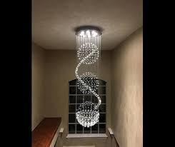Light Fixture Chandelier Ella Fashion Modern Led Spiral Sphere Rain Drop K9 Crystal