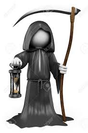 free video clip background for halloween 3d white people halloween the grim reaper costume isolated