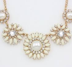 gold vintage statement necklace images Jewels necklace pearl diamonds cream gold chain statement jpg