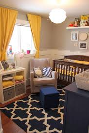 Mustard Curtain Appealing Baby Room Ideas Yellow Mustard Curtain Brown Wooden Crib
