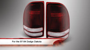 98 dakota tail lights 97 04 dodge dakota tail lights youtube