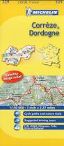 Dordogne France Map by Correze Dordogne Michelin Local Map 329 Michelin Local Maps
