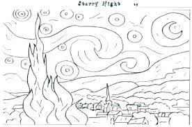 coloring page for van van coloring page van coloring page starry night coloring pages van