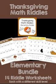 math riddles elementary bundle multiplication maths and