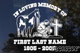 cowboy kneeling cross decals u0026 stickers decalboy