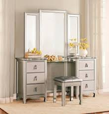 Silver Vanity Table Vanity Tables With Storage Shelby Knox