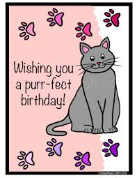 printable birthday ecards printable cat birthday cards card design ideas