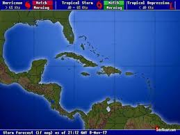 caribbean weather map weather hurricane storms hurricanes affecting the