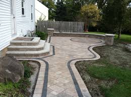 cost for paver patio exterior appealing patio design with cozy unilock pavers and