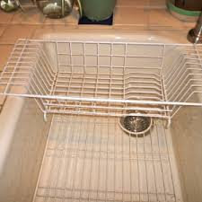 Decor  Tips Amazing Folding Dish Drainer Ideas With Stainless - Kitchen sink plate drainer
