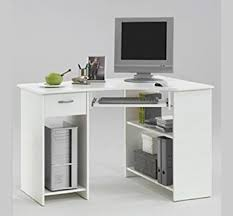 White Computer Desks For Home White Computer Desk Gloss With Drawers Madrid Onsingularity
