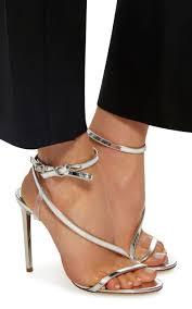 Rent A Desk London Romy Metallic Leather Sandals By Oscar De La Renta Moda Operandi