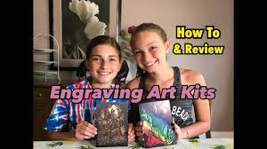 kids engraving arts and crafts kits youtube