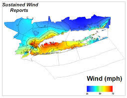 Wind Map United States by Hurricane Sandy
