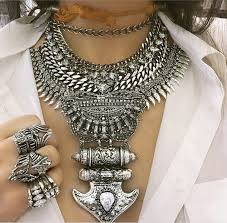 chunky chain choker necklace images Metal anchor charms necklaces pendants rhinestone leaf bib choker jpg