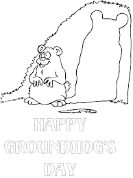 groundhog coloring pages kids free printable coloring