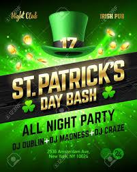 saint patrick u0027s day bash celebration poster design 17 march