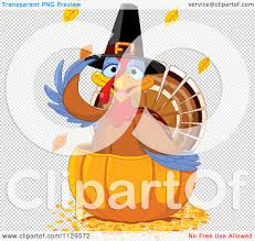 cute thanksgiving background cartoon of a cute thanksgiving turkey bird pilgrim in a pumpkin