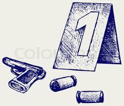 crime scene illustration illustration in doodle style vector