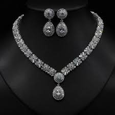 engagement jewelry sets women engagement jewelry sets real gold plated with cubic zircon