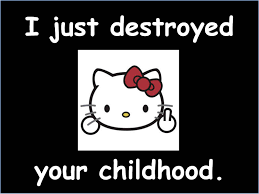 To Kill A Mockingbird Cat Meme - hello kitty just destroyed your childhood hello kitty know your meme