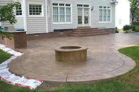 Fire Pit Kit Stone by Patio Propane Fire Pit Kit Concrete Patios Pictures Stamped
