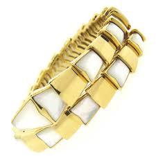 humanity bracelets bulgari serpenti mother of pearl gold wrap snake bracelet for sale