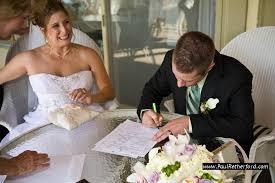 wedding signing bay view inn wedding petoskey michigan lake michigan