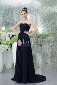 simple dresses navy chiffon strapless empire waist simple yet