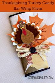 craft thanksgiving turkey bar wrap favors for your table