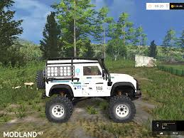 white land rover defender land rover defender dakar white v 1 0 mod for farming simulator