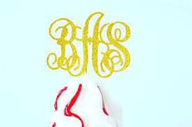 monogram cupcake toppers monogram cupcake topper personalized party decorations