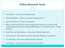 bureau olier relook federal office of rural health policy policy research team overview