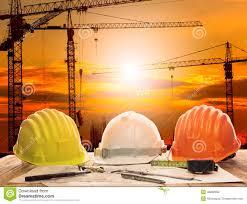 architect plan working table crane building construction