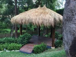 tropical backyard bali hut aarons outdoor success story series