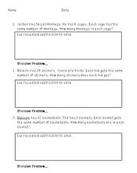 subtraction word problems repeated subtraction division word problems by mrs blakeman s