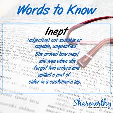 Suitable Meaning by Shareworthy What Is The Meaning Of Inept Words To Know