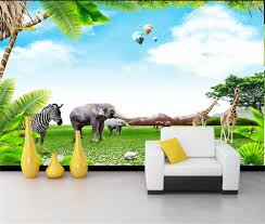 online buy wholesale elephant wall mural from china elephant wall custom 3d hd photo wallpaper kids room 3d mural elephant zebra helium balloons giraffe hd painting