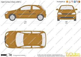 opel corsa 2002 the blueprints com vector drawing opel corsa c 3 door