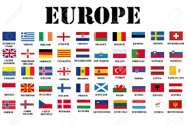 Europe Country Flags Flags Of Europe Complete Set Vector Spanish Ks3 Worksheets Bunch