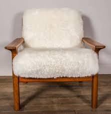 Ikea Hide Rug Furniture Sheepskin Chair With Cushy Comfort And Modern Style