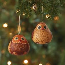 ornaments gourd owl ornament set