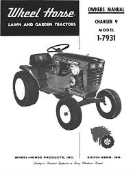 wheelhorse charger 9 owners manual 1 7931 396 mower axle