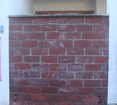Fake Exposed Brick Wall Faux Exposed Brick Wall With Cement Coloring With Pictures