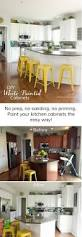 Yellow Kitchen Paint by Best 25 Painting Kitchen Cupboards Ideas On Pinterest Painting