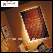Wide Slat Venetian Blinds With Tapes Wide Ladder Tape Cord Tilt 50mm Basswood Slat Cherry Wooden Blinds