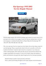 1997 toyota tacoma repair manual kia sportage 1995 2003 service repair manual by david wong issuu