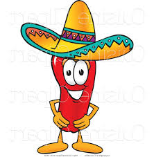 cuisine clipart cuisine clipart of a chili pepper wearing a sombrero hat by